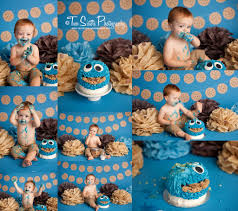 cookie monster baby shower cookie monster cake smash session first birthday cake smash