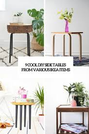 Diy Side Table 9 Cool Diy Side Tables From Various Ikea Items Shelterness