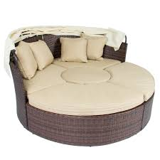 Curved Outdoor Sofa by Patio Furniture Fearsome Round Patio Sofac2a0 Image Concept Sofa