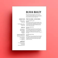 resume template cover letter instant download by u2026 holidays