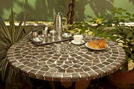Table Ronde Cuisine Design by Round Mosaic Table 140 Cm