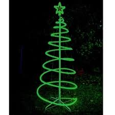 buy 120cm green solar led spiral tree rope light