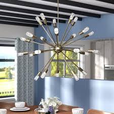 Sunburst Chandelier Langley Street Kendall 24 Light Sputnik Chandelier U0026 Reviews Wayfair