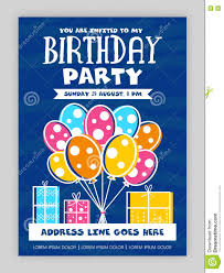 Party Invitation Card Design Birthday Party Invitation Card Design Stock Illustration Image