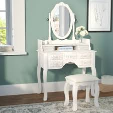 Mirrored Vanity Set Makeup Tables And Vanities You U0027ll Love Wayfair