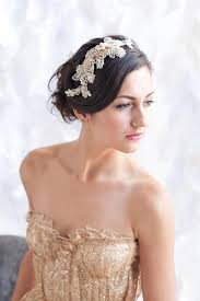 gold headpiece gold lace headpiece lace headpiece bridal hair comb tessa