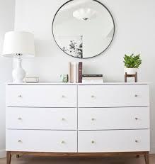 ikea askvoll hack modern white dresser a west elm inspired ikea hack kristina lynne
