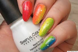 nail art an easy rainbow ombré design for pride month