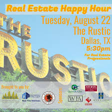 dallas real estate happy hour august 2017 noble mortgage