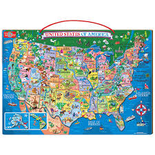 Delaware Map Usa by Amazon Com T S Shure Wooden Magnetic Map Of The Usa Puzzle Toys