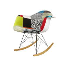 mid century modern eames style rar patchwork fabric upholstered