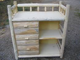 Changing Table Furniture Building A Log Changing Table Country Baby Room Pinterest