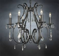 Black Metal Chandeliers Wrought Iron Crystal Chandelier The Aquaria