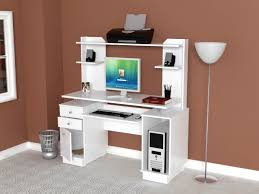 White Desk With Hutch Inval Computer Workcenter With Hutch In White Cc 5901