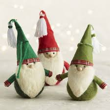felt gnome ornaments crate and barrel ornaments
