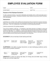 9 employee review forms free sample example format free