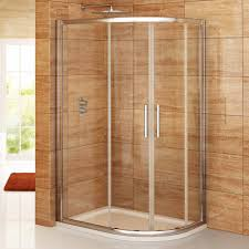 best curved small corner shower ideas with glass door by using