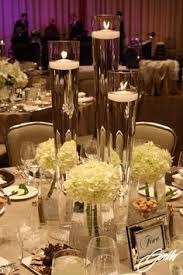 Cylinder Vases Wedding Centerpieces 155 Best Candle U0026 Submerged Centerpieces Images On Pinterest