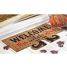 Halloween Home Decor Amazon by Amazon Com Mud Pie Halloween Home Garden Decor Floor Door Mat