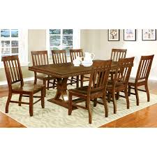 fox run 9 piece dining room set 6 side chairs 2 arm chairs and furniture of america fort wooden 9 piece dining table set dining table sets at hayneedle