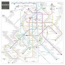 Santiago Metro Map by Spain Madrid Barcelona Train Rail Maps