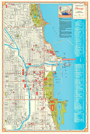 Map Of Chicago Downtown by Chuckman U0027s Collection Chicago Postcards Volume 08