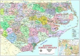 Nc Maps Eastern North Carolina Wall Map