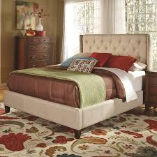 bedroom beige leather padded bed frame affordable upholstered beds