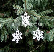 white crochet snowflakes winter u0026 christmas decoration lace