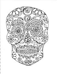 complicated coloring pages for adults 231 best sugar skulls day of the dead coloring pages for adults