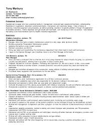 Example Of A Modern Resume by Tony Marbury Maint Supert Ii Resume