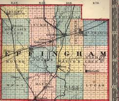 Il County Map Effingham County Illinois Maps And Gazetteers