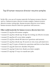 Human Resource Resume Sample Top 8 Human Resource Director Resume Samples 1 638 Jpg Cb U003d1427960221