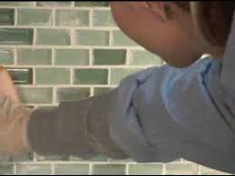 how to install glass mosaic tile backsplash in kitchen glass tile installation tile tips glass tiles etc youtube