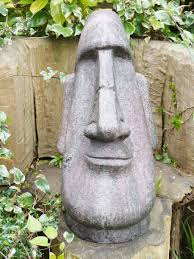 easter island garden easter island heads for sale candle and blue