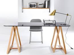 bureau avec treteau table bureau bois fabulous table basse bois et laqu blanc lgant