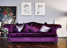 Purple Sofa Bed Sofa Velvet Purple Sofas Endearing Attractive