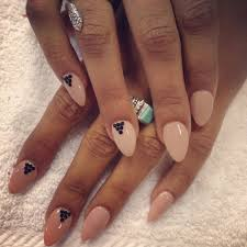 almond shaped nails creamy beige gel nails kelowna o spa