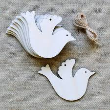 10pcs lot wooden peace dove wood slices discs wedding