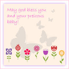 baby shower message greeting card may god bless you and your