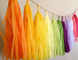 tissue paper decorations tassel garland bright decoration classroom mexican