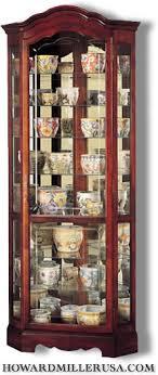cherry wood corner cabinet 680249 howard miller display cabinets corner curio cabinet
