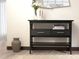 tall black console table black console table with shelves narrow small the second trick for