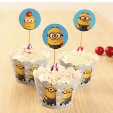 Home Cake Decorating Supply Kids Kitchen Toys Minions Party Supplies Cupcake Toppers Cupcake