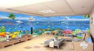wallpaper for entire wall 3d ocean underwater colorful fish entire room wallpaper wall murals