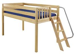maxtrix low loft bed w angle ladder on end twin size