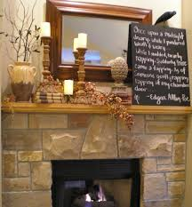 Halloween Wooden Decorations Festive Wooden Fireplace Mantel With Antique Displays For