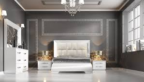 Italian Bedroom Sets Carmen White Modern Italian Bedroom Set N Star Modern Furniture