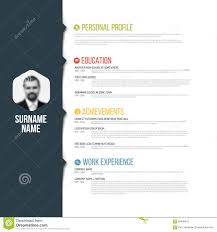 Cv Resume Example by Minimalistic Cv Resume Template Stock Vector Image 56038412
