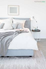 Schlafzimmer Buche Grau Die Besten 25 Graues Bett Ideen Auf Pinterest Gemütlicher